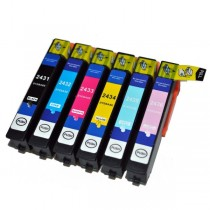 T2431 - 24XL - Cartuccia inkjet Nero compatibile per Epson Multifunzione Expression Photo XP750, XP850. Compatibile con T2431402