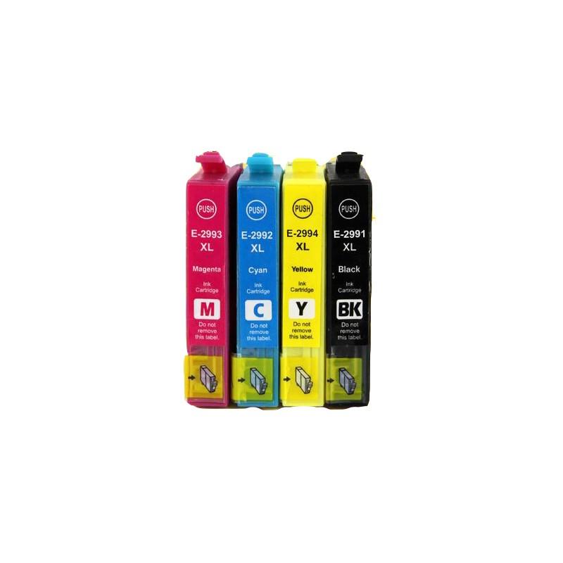 T2996 - SERIE T29XL FRAGOLA - Multipack inkjet nero + colori compatibile per Epson Expression Home XP235, XP332, XP335, XP432.