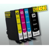 T3472 - T34XL PALLINA DA GOLF - Cartuccia inkjet Ciano compatibile per Epson WorkForce Pro WF-3720 DWF, WF-3725 DWF