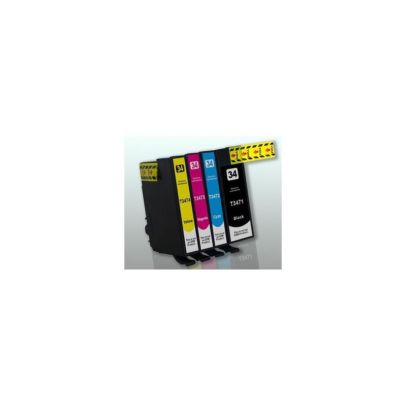 T3473 - T34XL PALLINA DA GOLF - Cartuccia inkjet Magenta compatibile per Epson WorkForce Pro WF-3720 DWF, WF-3725 DWF