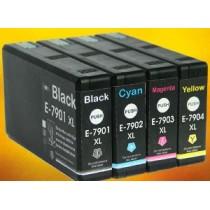 T7902 - 79XL - Cartuccia inkjet compatibile Ciano per Epson Workforcepro WF4630DWF, WF4640DTWF, WF5110DW