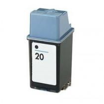 20 Cartuccia rigenerata inkjet Nero per HP Apollo P 2100, P 2200, Deskjet 610C, 612C, 615C. Compatibile con C6614DE. Codice cart