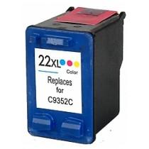 22xXL Cartuccia Rigenerata Inkjet a Colori Per Deskjet 3910, 3920, Officejet 5610xi, 4315 Xi,5605 Aio. Compatibile Con C9352ae.