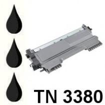 TN-3380 - Toner rigenerato Nero per Brother HL 5440D, HL 5450DN, HL 5470DW, HL 6180DW, HL 6180DWT. Stampa fino a 8.000 al 5% di