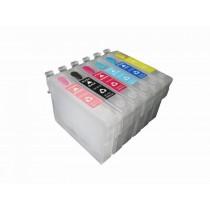 T0805 - Cartuccia vuota autoresettante Ciano Fotografico per Epson Multifunzione Stylus Photo RX 560, RX 585, RX 685, Stylus Pho