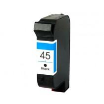 45 Cartuccia Rigenerata Inkjet Nero Per Color Copier 110, 120, Deskjet 990Cse, 990Cxi, 1000Cse. Compatibile Con 51645ae