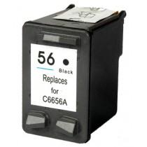 56 Cartuccia Rigenerata Inkjet Nero Per 410, Deskjet 5145, Officejet 4110v, 4215v, 411oxi. Compatibile C6656ae 56.