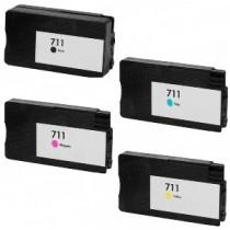 711 - Cartuccia inkjet Giall rigenerata per HP Designjet T120, HP Designjet T520.